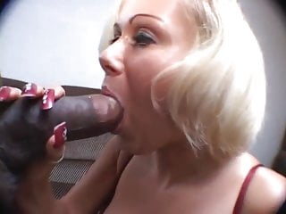 Long nails mature lady sucking black cock...