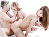LETSDOEIT - Sensual Babes Sharing One Cock in 1ST Threesome