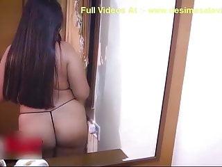Desi indian enormous ass bhabhi in thong naked milf