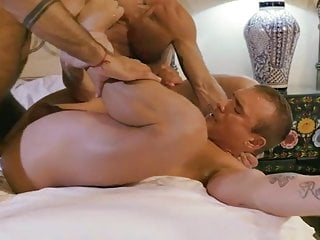 Sexy vers faggot gets fucked by two handsome men