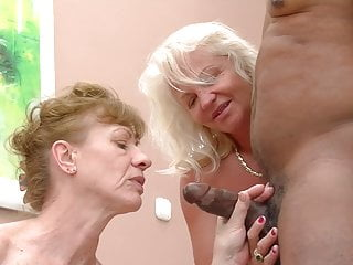 grannies cock! his want Two