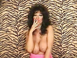 Another Hot Brunette Cougar Smoking and Teasing