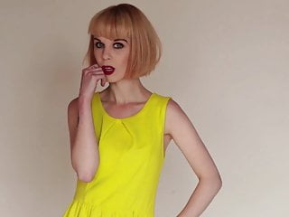 Mia – Valentine – in Yellow Dress Fun