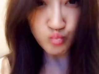Asian amateur model squirt on dildo...