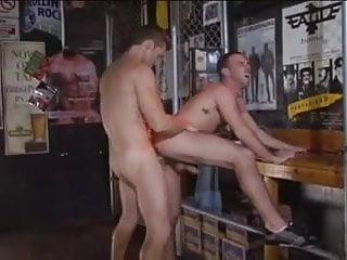 Two men stroking after dirty...
