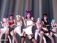 MMD Brown Eyed Girls-Abracadabra KDA Hot Dance 4K UHD 60FPS