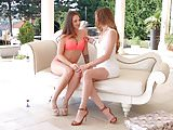 Capri Anderson with Angelina Brill doing lesbian sex on