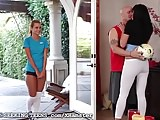 Jessie Rogers Fucked by Couple After Soccer