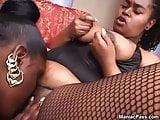 Fat black lesbians dildoing