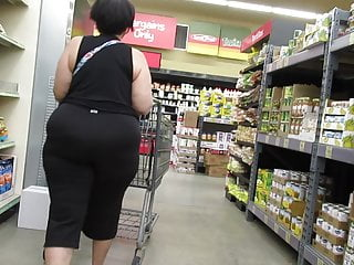 tight granny in pants  Fat booty