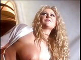 Blonde with curly hair and sexy lingerie gets her pussy licked by guy